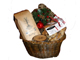 Burlap and Bean Gift Basket